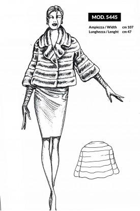 MOD. 5445 - Bolero con manica 3/4 e grande collo